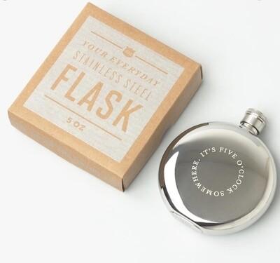 Izola 5oz Stainless Steel Hip Flask