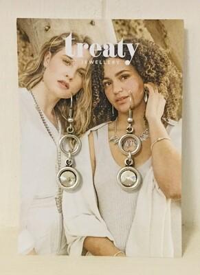 Treaty Crystal Earrings Clear