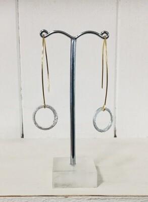 LWL Earrings Long Single  Circle