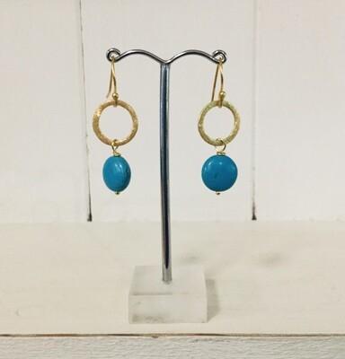 LWL Circle Drop Earrings Turquoise