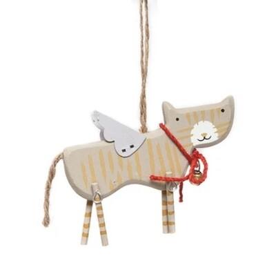 Gisela Graham Cat Christmas Decoration