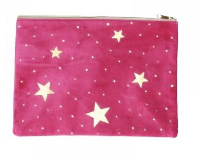 Pink Velvet Bag