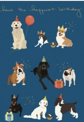 Card RLB  9 Dogs - Have The Happiest Birthday