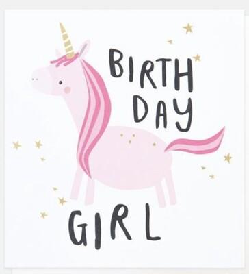 Card CG Unicorn Birthday Girl
