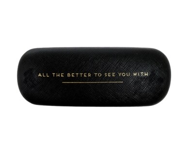 Portico Black Glasses Case