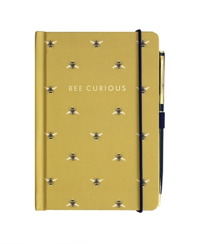 Portico Bee Curious Notebook and Pen