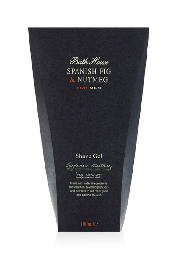 The Bath House Spanish Fig & Nutmeg Shaving Gel