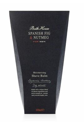 The Bath House Spanish Fig & Nutmeg Shaving Balm