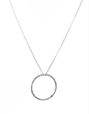 One & Eight Necklace Hoop Silver