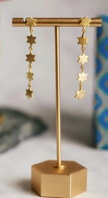 Five Star Drop Earrings