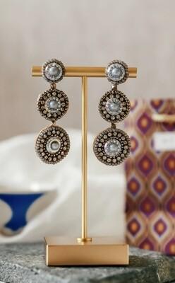 Beaded Circle Drop Earrings