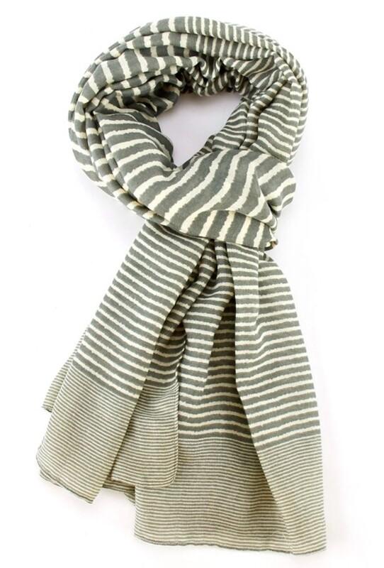 Fashion Scarf Stripes Green