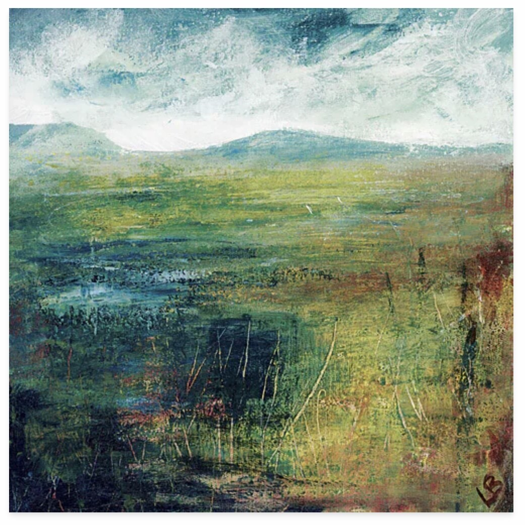 Canvas Print - Hill and Water
