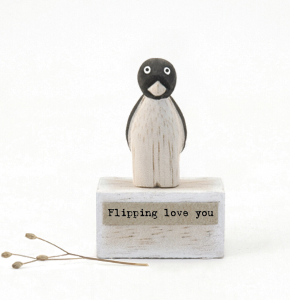 East of India Flippin Love You Penguin