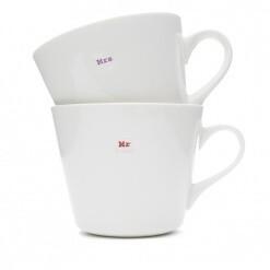 Keith Brymer Jones Mug Pair Mr and Mrs
