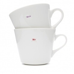 Keith Brymer Jones Mug Pair Mr and Mrs