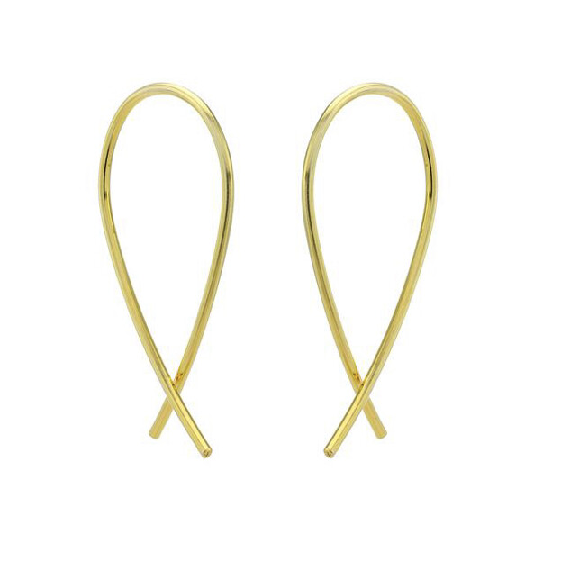 One & Eight  Earrings Mini Crossover Gold