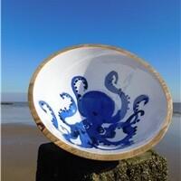 Octopus wood bowl 30cm