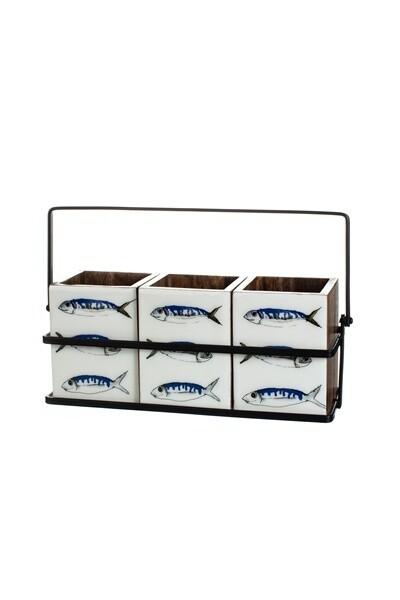 Three Fish Cutlery Caddy