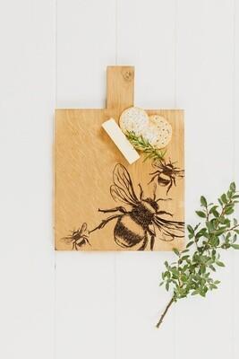 Bee Medium Oak Serving Paddle