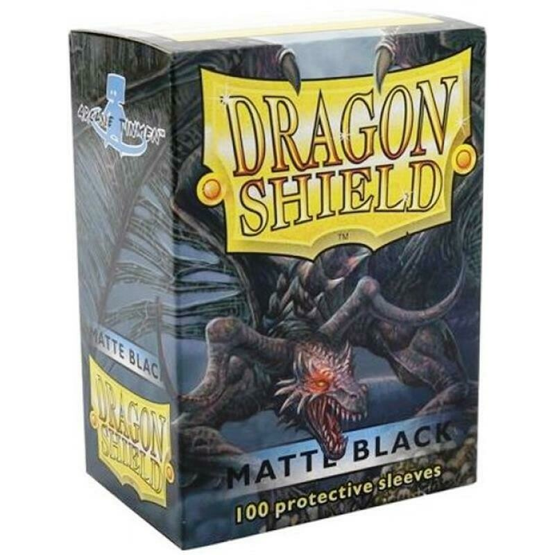 Dragon Shield Standard Sleeves - Matte Black (100 Sleeves)