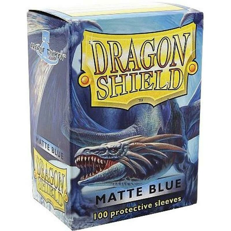 Dragon Shield Standard Sleeves - Matte Blue (100 Sleeves)