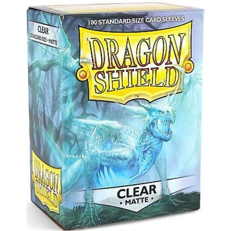 Dragon Shield Standard Sleeves - Matte Clear (100 Sleeves)