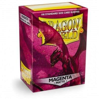 Dragon Shield Standard Sleeves - Matte Magenta (100 Sleeves)