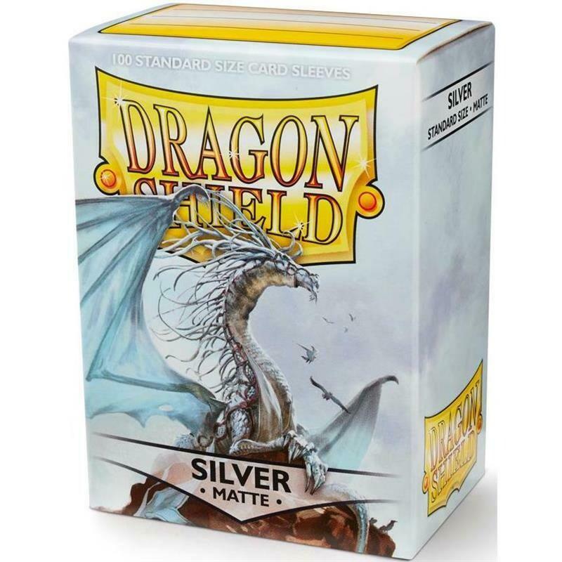 Dragon Shield Standard Sleeves - Matte Silver (100 Sleeves)