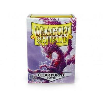 Dragon Shield Standard Sleeves - Matte Clear Purple (100 Sleeves)