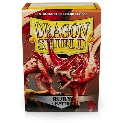 Dragon Shield Standard Sleeves - Matte Ruby (100 Sleeves)