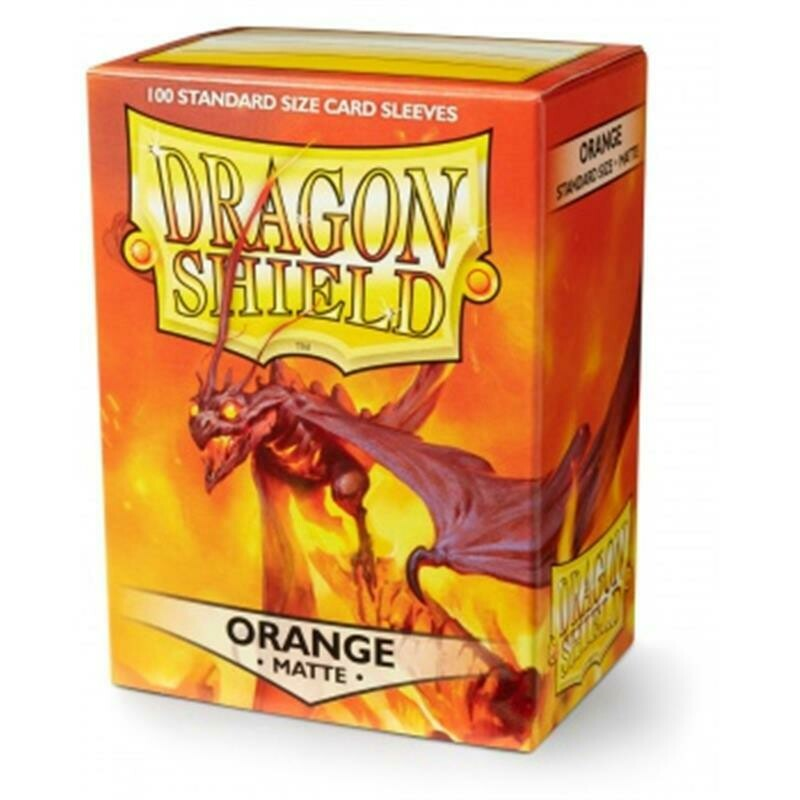Dragon Shield Standard Sleeves - Matte Orange (100 Sleeves)