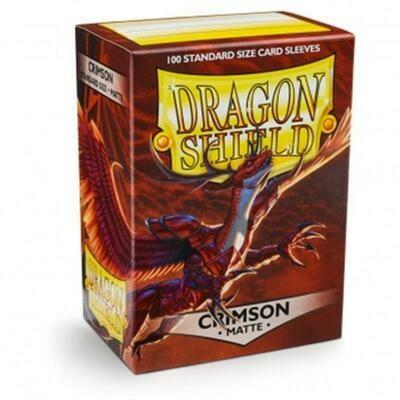 Dragon Shield Standard Sleeves - Matte Crimson (100 Sleeves)