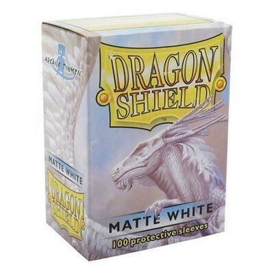 Shield Standard Sleeves - Matte White (100 Sleeves)