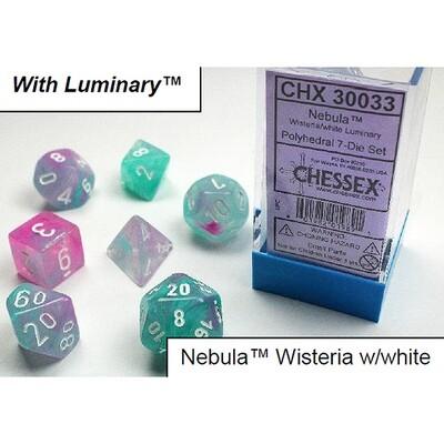 NEBULA WISTERIA/WHITE 7-DADI SET