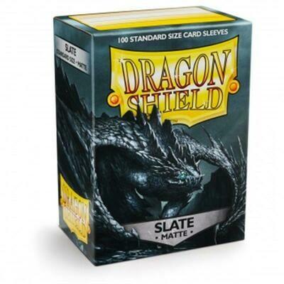 Shield Standard Sleeves - Matte Slate (100 Sleeves)