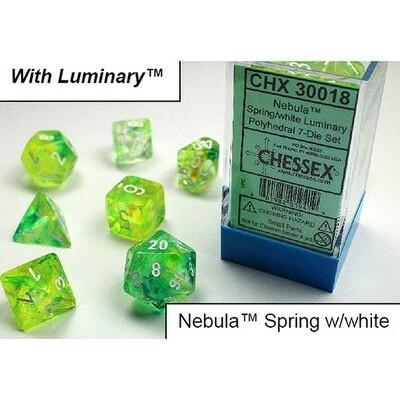 NEBULA SPRING/WHITE 7-DADI SET