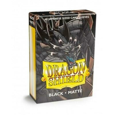 Dragon Shield Small Sleeves - Japanese Matte Black (60 Sleeves)