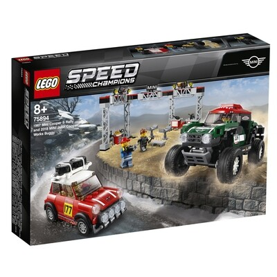 LEGO Speed Champions 1967 Mini Cooper S Rally e 2018 Mini John Cooper Works Buggy 75894