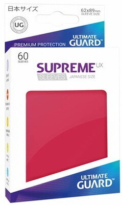 Ultimate Guard - Conf. 60 proteggicards Supreme UX Mini Rosso