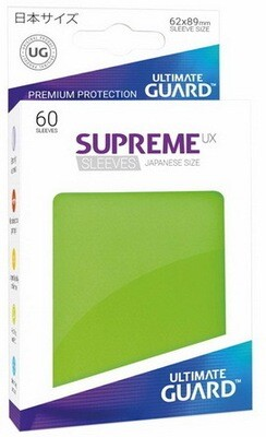 Ultimate Guard - Conf. 60 proteggicards Supreme UX Mini Verde Chiaro