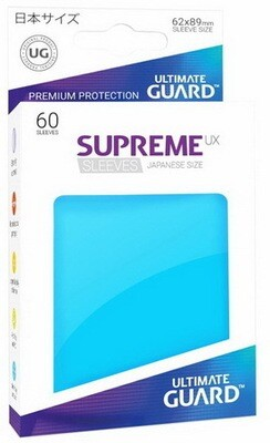 Ultimate Guard - Conf. 60 proteggicards Supreme UX Mini Azzurro [Light Blue]