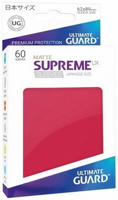 Ultimate Guard - Conf. 60 proteggicards Supreme UX Mini Matte Rosso