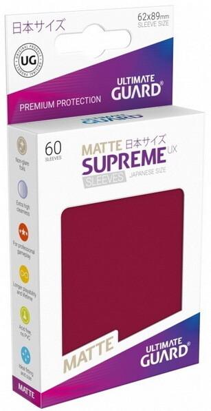 Ultimate Guard - Conf. 60 proteggicards Supreme UX Mini Matte Burgundy