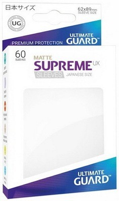 Ultimate Guard - Conf. 60 proteggicards Supreme UX Mini Matte Bianco