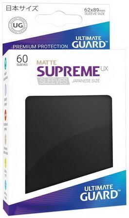 Ultimate Guard - Conf. 60 proteggicards Supreme UX Mini Matte Nero