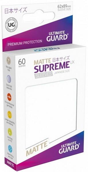 Ultimate Guard - Conf. 60 proteggicards Supreme UX Mini Matte Ghiaccio [Frosted]