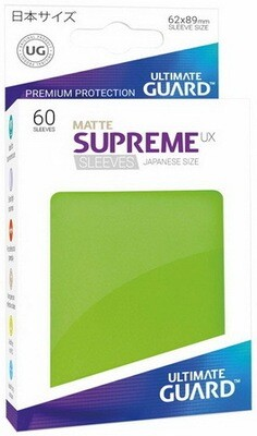 Ultimate Guard - Conf. 60 proteggicards Supreme UX Mini Matte Verde Chiaro