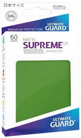 Ultimate Guard - Conf. 60 proteggicards Supreme UX Mini Matte Verde