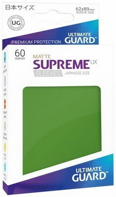 Ultimate Guard - Conf. 60 proteggicards Supreme UX Mini Matte Verde